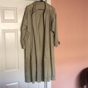 Jackets & Blazers - Light olive trench coat